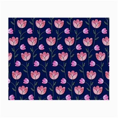 Watercolour Flower Pattern Small Glasses Cloth (2 Side)
