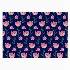 Watercolour Flower Pattern Large Glasses Cloth (2-Side)