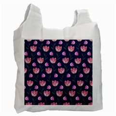 Watercolour Flower Pattern Recycle Bag (Two Side)