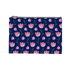 Watercolour Flower Pattern Cosmetic Bag (large)