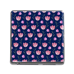 Watercolour Flower Pattern Memory Card Reader (Square)