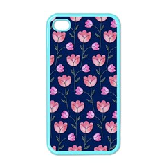 Watercolour Flower Pattern Apple iPhone 4 Case (Color)