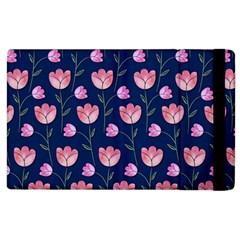 Watercolour Flower Pattern Apple Ipad 2 Flip Case
