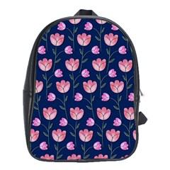 Watercolour Flower Pattern School Bags (XL)