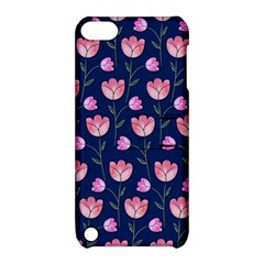 Watercolour Flower Pattern Apple iPod Touch 5 Hardshell Case with Stand