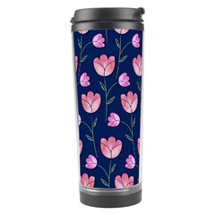 Watercolour Flower Pattern Travel Tumbler