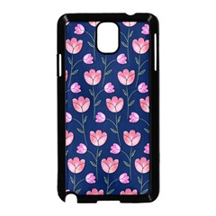 Watercolour Flower Pattern Samsung Galaxy Note 3 Neo Hardshell Case (black)
