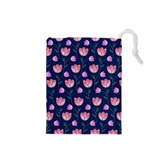 Watercolour Flower Pattern Drawstring Pouches (Small)