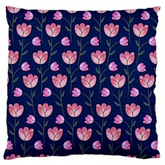 Watercolour Flower Pattern Standard Flano Cushion Case (two Sides)
