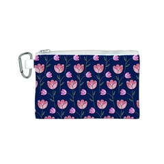 Watercolour Flower Pattern Canvas Cosmetic Bag (S)