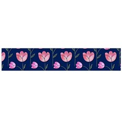 Watercolour Flower Pattern Flano Scarf (Large)