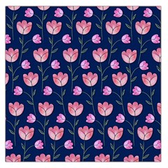 Watercolour Flower Pattern Large Satin Scarf (square)