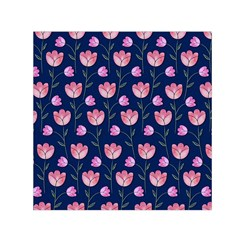 Watercolour Flower Pattern Small Satin Scarf (square)