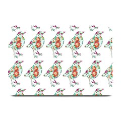 Floral Birds Wallpaper Pattern On White Background Plate Mats