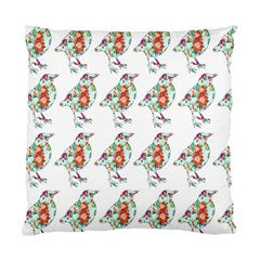 Floral Birds Wallpaper Pattern On White Background Standard Cushion Case (one Side)