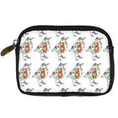 Floral Birds Wallpaper Pattern On White Background Digital Camera Cases