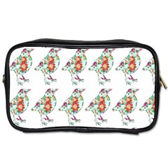 Floral Birds Wallpaper Pattern On White Background Toiletries Bags 2-Side