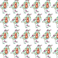 Floral Birds Wallpaper Pattern On White Background Magic Photo Cubes
