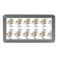 Floral Birds Wallpaper Pattern On White Background Memory Card Reader (Mini)
