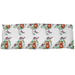 Floral Birds Wallpaper Pattern On White Background Body Pillow Case (Dakimakura)