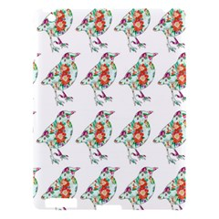 Floral Birds Wallpaper Pattern On White Background Apple Ipad 3/4 Hardshell Case