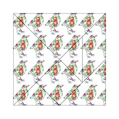 Floral Birds Wallpaper Pattern On White Background Acrylic Tangram Puzzle (6  x 6 )
