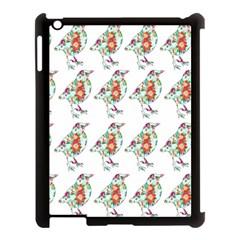 Floral Birds Wallpaper Pattern On White Background Apple iPad 3/4 Case (Black)