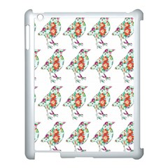Floral Birds Wallpaper Pattern On White Background Apple iPad 3/4 Case (White)