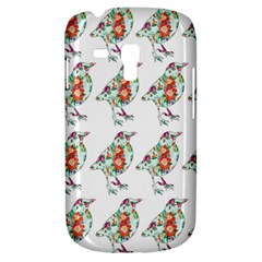 Floral Birds Wallpaper Pattern On White Background Galaxy S3 Mini