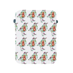 Floral Birds Wallpaper Pattern On White Background Apple Ipad 2/3/4 Protective Soft Cases
