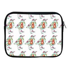 Floral Birds Wallpaper Pattern On White Background Apple iPad 2/3/4 Zipper Cases
