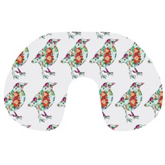 Floral Birds Wallpaper Pattern On White Background Travel Neck Pillows
