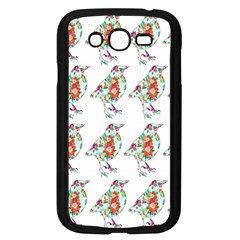 Floral Birds Wallpaper Pattern On White Background Samsung Galaxy Grand DUOS I9082 Case (Black)