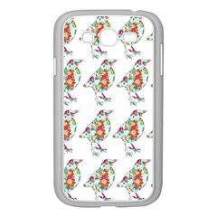 Floral Birds Wallpaper Pattern On White Background Samsung Galaxy Grand DUOS I9082 Case (White)