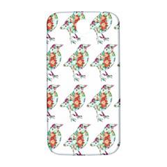 Floral Birds Wallpaper Pattern On White Background Samsung Galaxy S4 I9500/I9505  Hardshell Back Case
