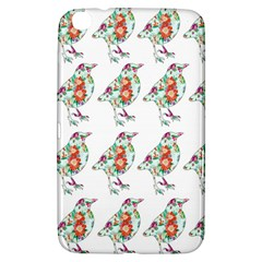 Floral Birds Wallpaper Pattern On White Background Samsung Galaxy Tab 3 (8 ) T3100 Hardshell Case