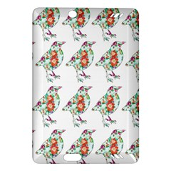 Floral Birds Wallpaper Pattern On White Background Amazon Kindle Fire Hd (2013) Hardshell Case