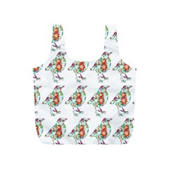 Floral Birds Wallpaper Pattern On White Background Full Print Recycle Bags (s)