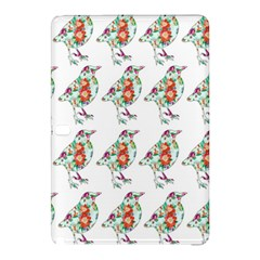 Floral Birds Wallpaper Pattern On White Background Samsung Galaxy Tab Pro 12 2 Hardshell Case