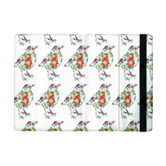 Floral Birds Wallpaper Pattern On White Background iPad Mini 2 Flip Cases