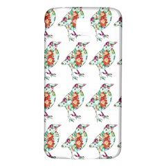 Floral Birds Wallpaper Pattern On White Background Samsung Galaxy S5 Back Case (White)