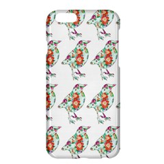 Floral Birds Wallpaper Pattern On White Background Apple iPhone 6 Plus/6S Plus Hardshell Case