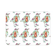 Floral Birds Wallpaper Pattern On White Background Double Sided Flano Blanket (mini)