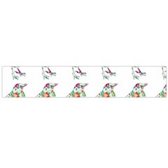 Floral Birds Wallpaper Pattern On White Background Flano Scarf (Large)