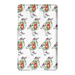 Floral Birds Wallpaper Pattern On White Background Samsung Galaxy Tab S (8 4 ) Hardshell Case