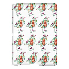 Floral Birds Wallpaper Pattern On White Background Samsung Galaxy Tab S (10.5 ) Hardshell Case