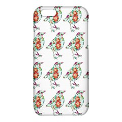Floral Birds Wallpaper Pattern On White Background iPhone 6/6S TPU Case