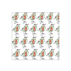 Floral Birds Wallpaper Pattern On White Background Satin Bandana Scarf