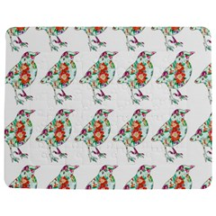 Floral Birds Wallpaper Pattern On White Background Jigsaw Puzzle Photo Stand (Rectangular)