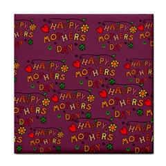 Happy Mothers Day Text Tiling Pattern Tile Coasters